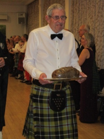 Brian Hooper the intrepid Haggis carrier!